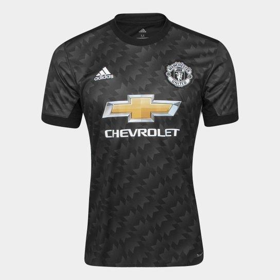 Camisa Manchester United Away 17 18 s nº - Torcedor Adidas Masculina - Preto 2f060af15e5fa