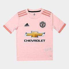 fdd36e0339 Camisa Manchester United Infantil Away 2018 s/n° Torcedor Adidas