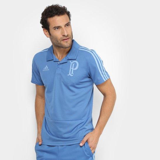 Camisa Polo Palmeiras Adidas Viagem Masculina - Azul - Compre Agora ... b707cbe2716c1