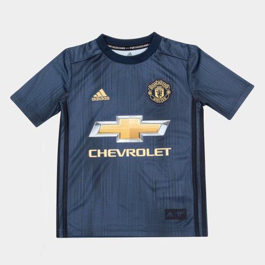 a695761ced Camisa Manchester United Infantil Third 2018 s/n° - Torcedor Adidas - Azul