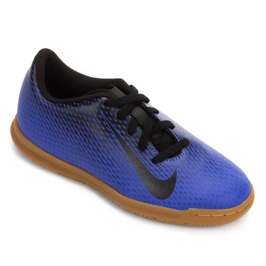 40eb6719f6 Chuteira Futsal Infantil Nike Bravata 2 IC - Azul e Preto