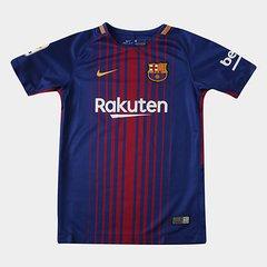 b88e6449d5602 Camisa Barcelona Juvenil Home 17 18 s nº - Torcedor Nike