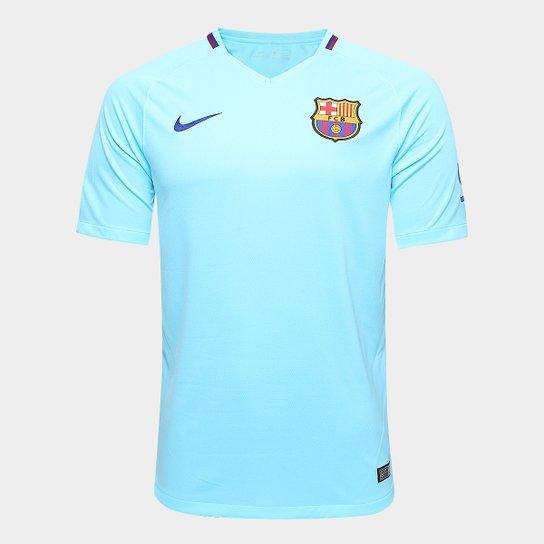 eed0c87276755f Camisa Barcelona Away 17/18 s/n° Torcedor Nike Masculina | Allianz ...