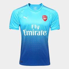 ed68fcf7045 Camisa Arsenal Away 17 18 s n° Torcedor Puma Masculina