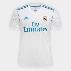 Camisa Real Madrid Home 17 18 - Torcedor Adidas Masculina · Lançamento 94a73f019bb3a