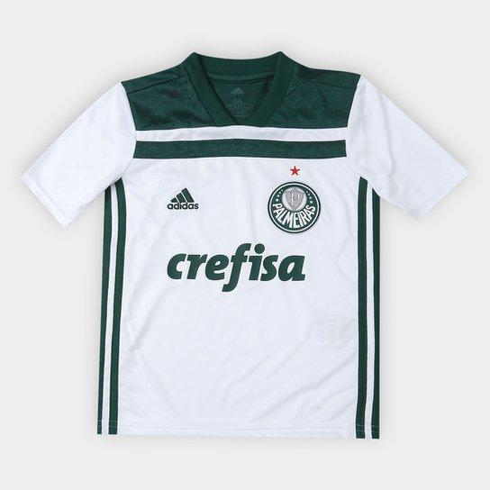 7d7724cb99f97 Camisa Palmeiras Infantil II 2018 s n° Torcedor Adidas - Branco e ...