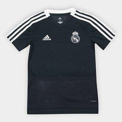 Camisa Real Madrid Infantil Treino 2018 Adidas a047fa913a792
