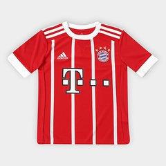 bc8785d56c135 Camisa Bayern de Munique Infantil Home 17 18 s nº - Torcedor Adidas