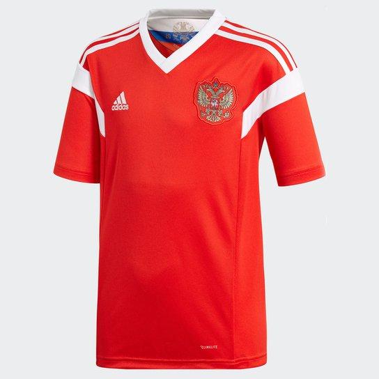 Camisa Seleção Rússia Infantil Home 2018 s n° Torcedor Adidas - Vermelho 5918cd5485c1e