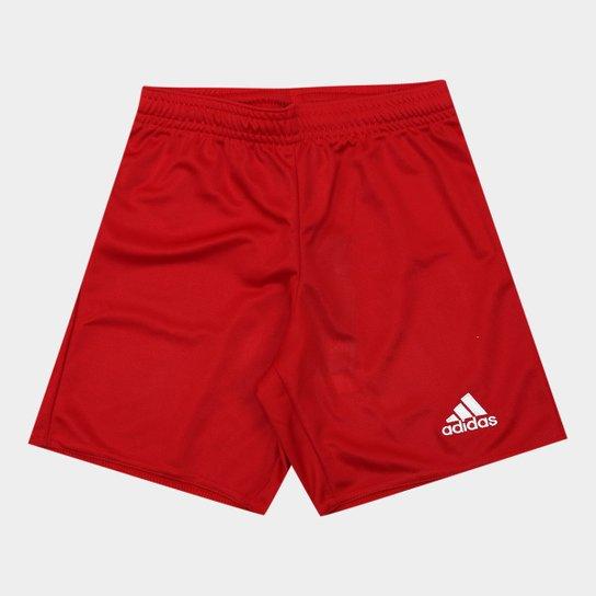 Calção Infantil Adidas Parma 16 - Vermelho - Compre Agora  8571bd18455ac