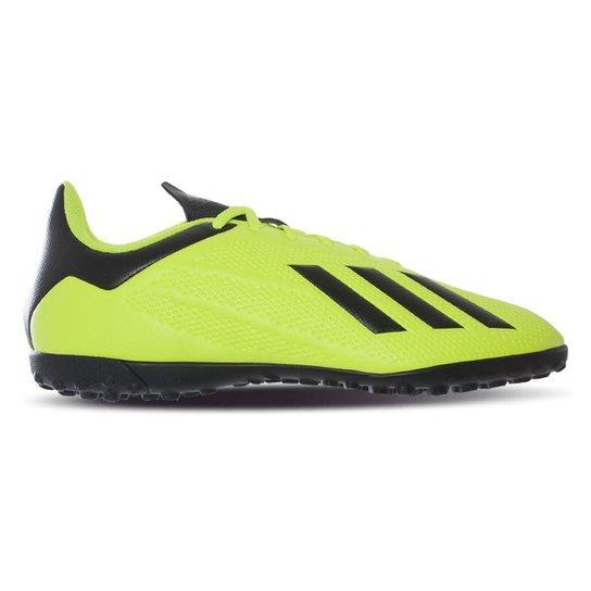 Chuteira Society Adidas X Tango 18 4 TF - Preto e verde - Compre ... c3bc0834ddc7a