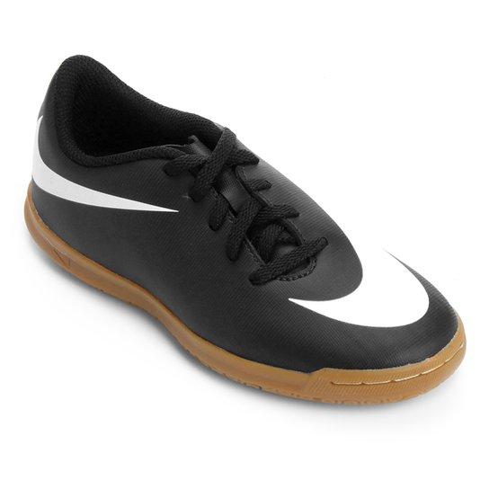 082708fbe8 Chuteira Futsal Infantil Nike Bravata 2 IC - Preto e Branco - Compre ...