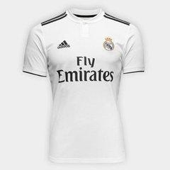 ccdb6d60d4 Camisa Real Madrid Home 2018 s/n° Torcedor Adidas Masculina