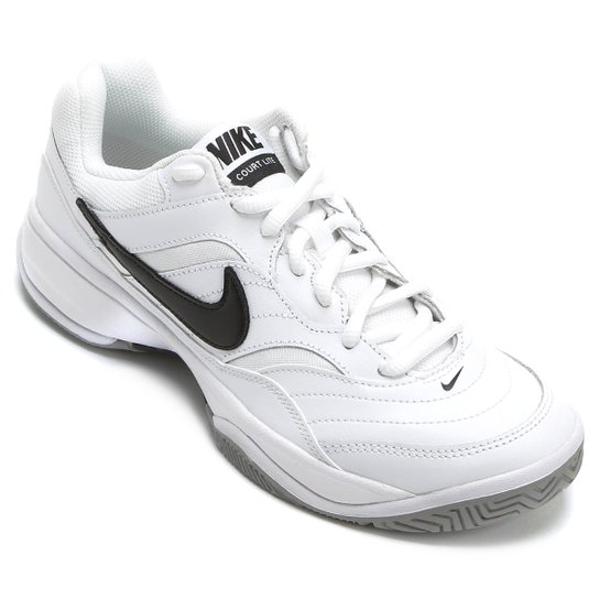bbca3eb41 Tênis Nike Court Lite Masculino - Branco e Preto - Compre Agora ...