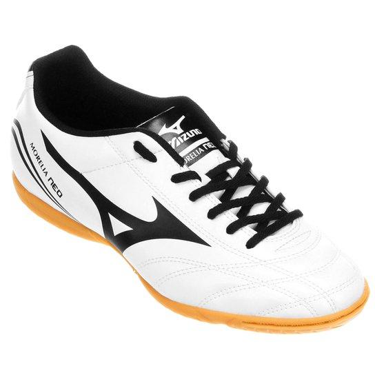 a7a405b866 Chuteira Futsal Mizuno Morelia Neo Club IN - Branco e Preto ...