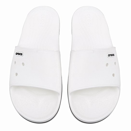 a3cdaf9566 Chinelo Crocs Crocband III Slide - Branco e Preto | Allianz Parque Shop