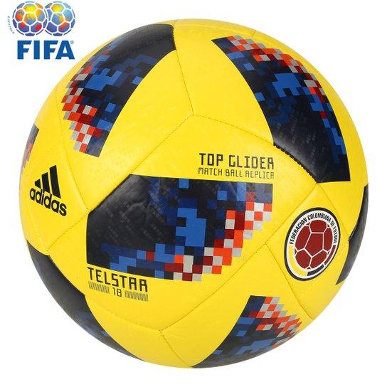 Bola Futebol Campo Adidas Telstar 18 TOP Glider Colômbia Copa do Mundo FIFA  - Amarelo e95f98c1e4e3b