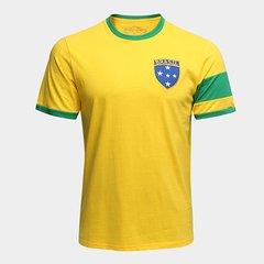 df87d3e7855be Camiseta Brasil Capitães 1970 Retrô Times Masculina