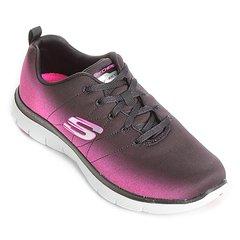 6ea5efd1e Tênis Skechers Flex Appeal 2.0 Bright Side Feminino