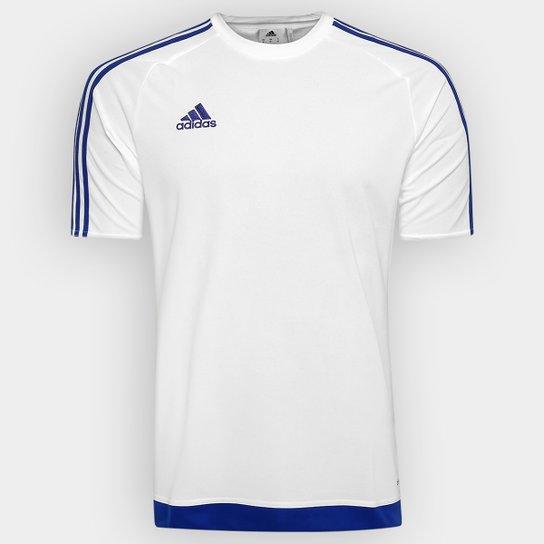 5e6e11a645a Camisa Adidas Estro 15 Masculina - Branco e Azul - Compre Agora ...