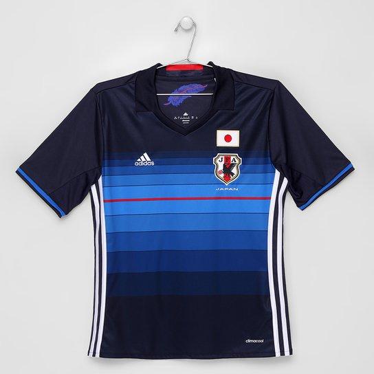 Camisa Seleção Japão Infantil Home 2016 s nº Torcedor Adidas - Marinho+Azul a1aa784efa420