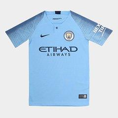 1370add5526a2 Camisa Manchester City Infantil Home 2018 s n° - Torcedor Nike