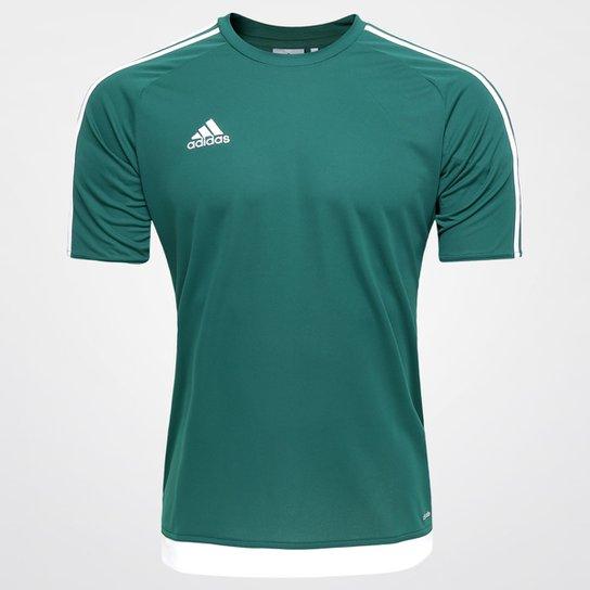 097798ebd4 Camisa Adidas Estro 15 Masculina - Verde e Branco - Compre Agora ...