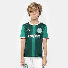 1e9309068b3da Camisa Palmeiras Infantil I 2016 s nº - Torcedor Adidas