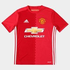 Camisa Manchester United Infantil Home 16 17 s nº - Torcedor Adidas f8163626084a0
