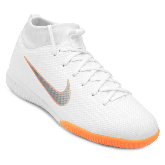f250068c7 Chuteira Futsal Infantil Nike Mercurial Superfly 6 Academy - Branco+Cinza