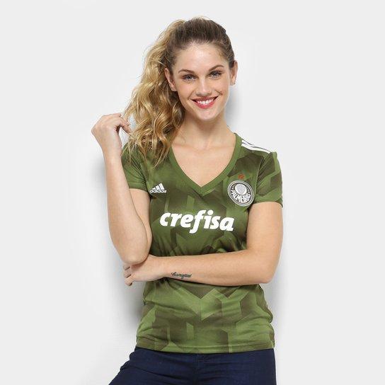 a487c5cc9eb54 Camisa Palmeiras III 2018 s n° - Torcedor Adidas Feminina - Verde ...