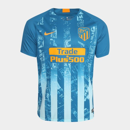 bf1496e91 Camisa Atlético Madrid Third 2018 s n° - Torcedor Nike Masculina - Azul  Petróleo