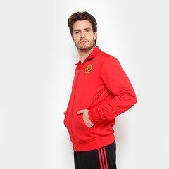 4b6dba6887c Jaqueta Manchester United 3Stripes Adidas Masculina