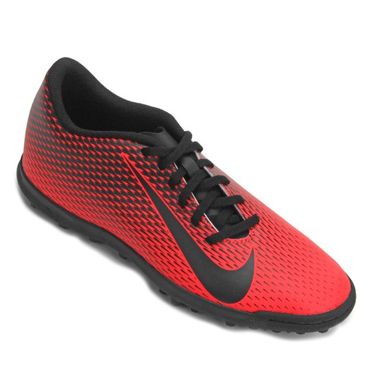 a6d0acf343e7e Chuteira Society Nike Bravata 2 TF - Vermelho e Preto | Allianz ...