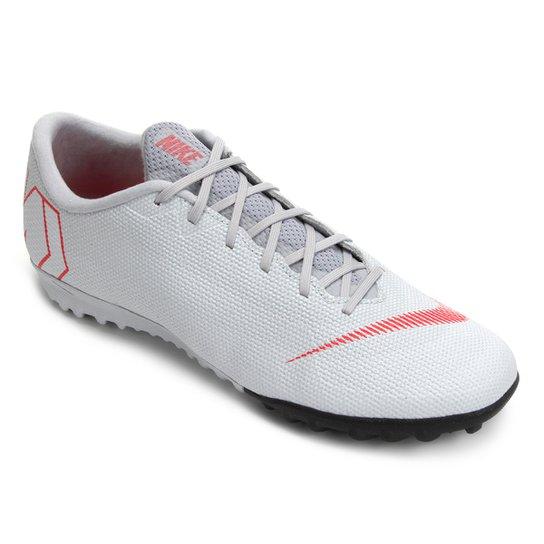 Chuteira Society Nike Mercurial Vapor 12 Academy - Preto e Cinza ... 6745676be10f2
