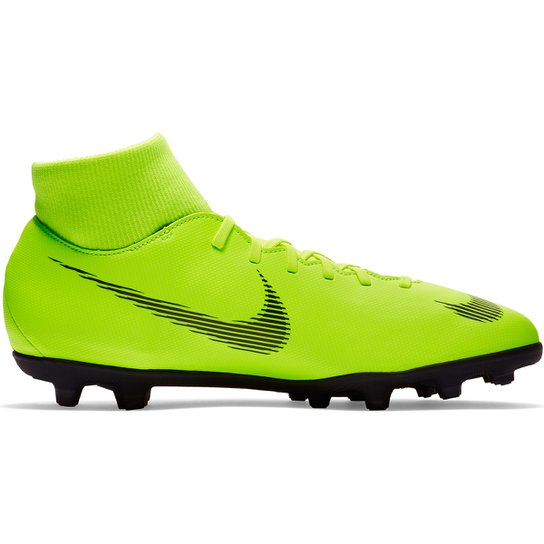 25eb843fdc49b Chuteira Campo Nike Mercurial Superfly 6 Club - Verde e Preto ...
