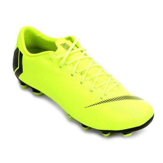 d76ef02216bfc Chuteira Campo Nike Mercurial Vapor 12 Academy - Amarelo e Preto ...