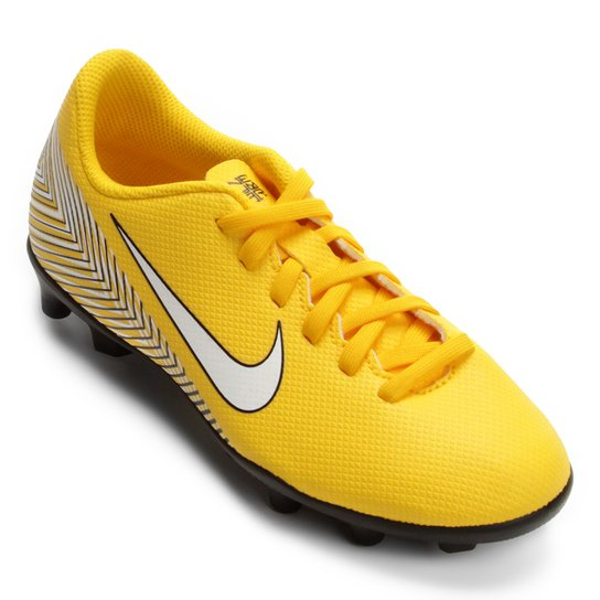 0fd0c991bb Chuteira Campo Infantil Nike Mercurial Vapor 12 Club GS Neymar FG -  Amarelo+Preto