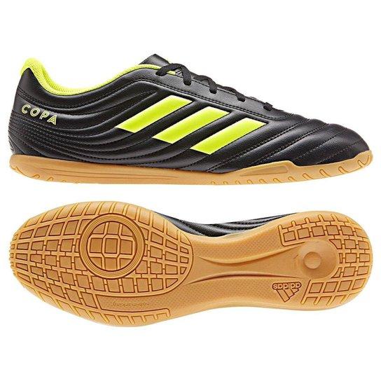 ddaa819e861 Chuteira Futsal Adidas Copa 19 4 IN - Preto e Amarelo | Allianz ...