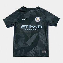 Camisa Manchester City Juvenil Third 17 18 s n° - Torcedor Nike b2823ff4daf95