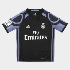 63265bf49d Camisa Real Madrid Infantil Third 16 17 s nº Torcedor Adidas