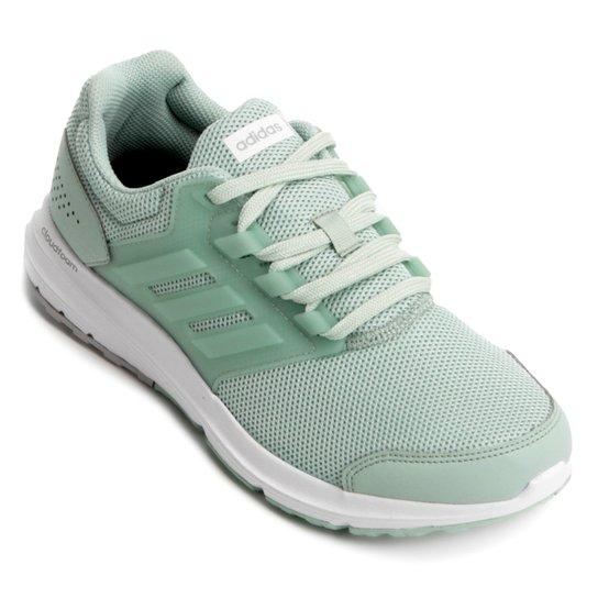 1fffd8cb492 Tênis Adidas Galaxy 4 Feminino - Verde e Prata - Compre Agora ...