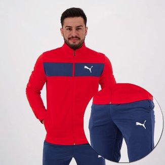 Agasalho Puma Techstripe Tricot Suit Masculino