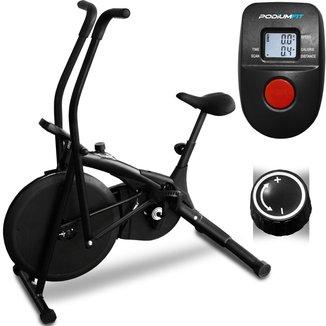 Air Bike Podiumfit Ab100 Bicicleta Ergométrica Silenciosa Controle  Cargas