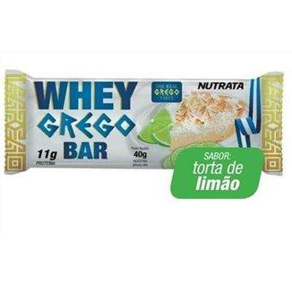 Barra Whey Grego Bar - 12 Unidades de 40g Torta de Limão - Nutrata