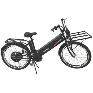 Bicicleta Elétrica Cargo 800W 48V 12Ah Aro 26 Preta