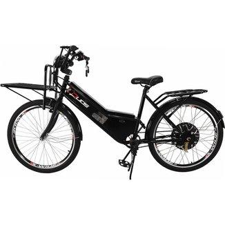 Bicicleta Elétrica com Bateria de Lítio 48V 13Ah Aro 26 Cargo Preta