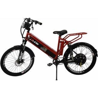 Bicicleta Elétrica com Bateria de Lítio 48V 13Ah Confort FULL Vermelha
