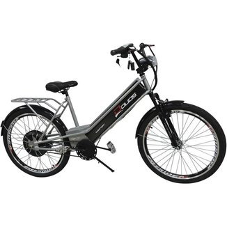 Bicicleta Elétrica com Bateria de Lítio 48V 13Ah Confort Prata
