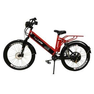 Bicicleta Elétrica Confort FULL 800W 48V 15Ah Cor Vermelha